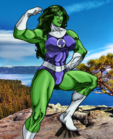 She-Hulk with background by MarianGTS