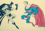 Superman Vs Batman by adiga45