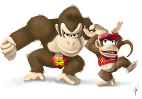 Donkey Kong and Diddy Kong by EmilyKiwi