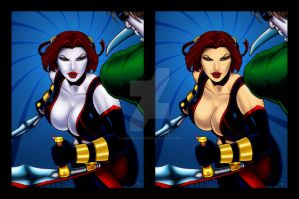 Bloodrayne 2 by rplatt and me by joephotoshop