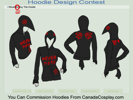 NEVERMORE hoodie by FoxWingDrgn