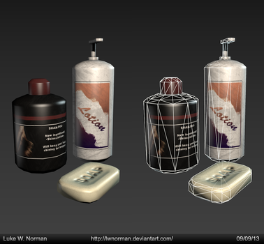 Bathroom Products - Game Asset by LWNorman