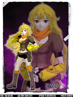 RWBY: Grimm Eclipse - Yang Xiao Long by DatKofGuy