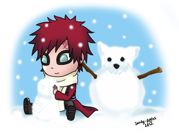 Kazekage in the Snow ~ by Sandy--Apples