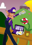 Waluigi has a view and a page by Wicked-Lover-Chan