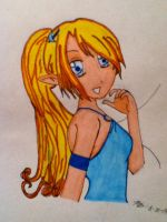 Anime girl free hand by nora038