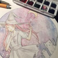 Witchy Art Challenge: Galaxy Witch by Rmblee
