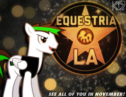 I'll be at Equestria LA 2012. by KibbieTheGreat