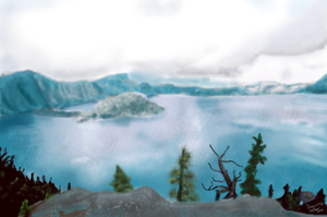 Crater Lake by Dragon77123