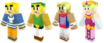 Mincraft Skin Pack: Wind Waker by PhilipTomkins
