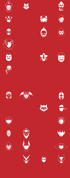 UMvC3 Icons - Whole Cast WIP by mrbrownie