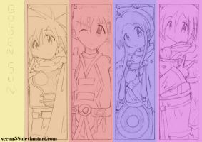 +GS bookmark sketch set 1+ by Seena58