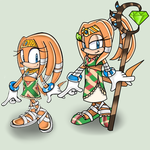 little Tikal and older Tikal by Sanddy273