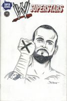 CM Punk Sketch Cover by MarkPoulton