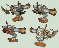 WoW Goblin Cannon Cut Out Pack by atagene