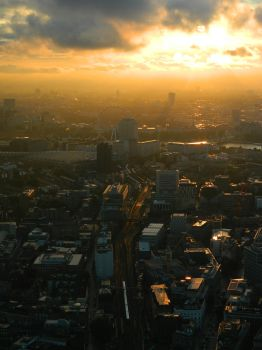 London sunset from The Shard by Princess-Amy