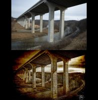 Interstate Bridge: Before/After by braxtonds
