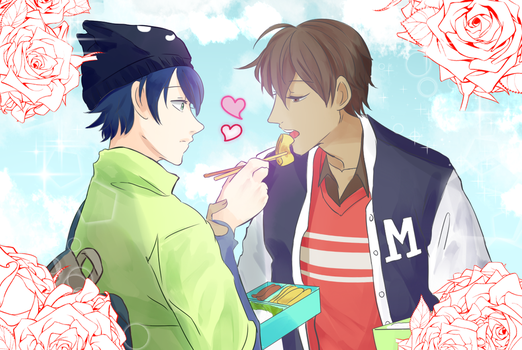 MH Valentine's Day Event : Shun and Itsuki by MangaGirl987