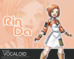 Fan-made Vocaloid Rinda by YonYonYon