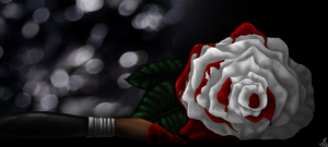 Painting roses. by Alexandoria