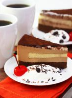 Chocolate Tiramisu Cake by theresahelmer