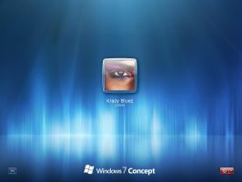 Windows 7 Concept Logon for XP by Krazy-Bluez