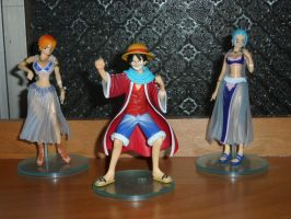 Luffy, Nami and Vivi (Alabasta version) by ThomasAnime