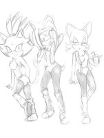 P.C Amy,Blaze,Rouge by Klaudy-na