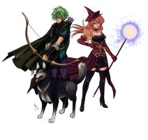 Ranger and witch by lince