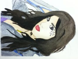 Kat Von D (watercolor, finished!) by Redax3