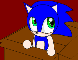 Baby Sonic In The Box by NinSeMarvel