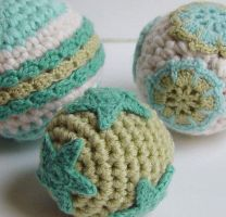 crochet Christmas ornaments by meekssandygirl