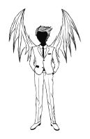 Only black' n 'white / Castiel by MissPsycopath