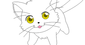 cat lineart 3 by michy123