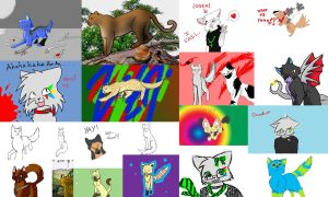 gay art montage... by XspottedclawX