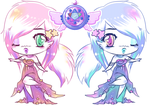 Adoptable - Chibi Galaxy Girls - OPEN by CloverWing