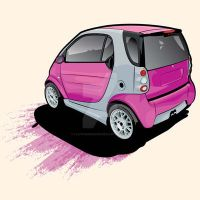 Pimped Smart Car by flatfourdesign