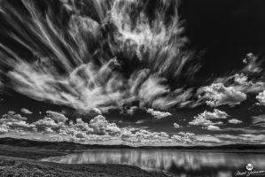 Wild Clouds Over Strawberry BW by mjohanson