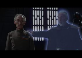Dooku and Tarkin, Lee and Cushing in Star Wars by MissGidge