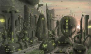 Orion Homeworld - Harrad-Sar City District by Koruk