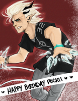 DAMMED: HAPPY BIRTHDAY POCKII !!! by aomaoe