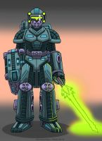 Asuka Fortress Robot Colored by Enshohma