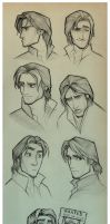 Flynn Rider Sketches by EternaLegend