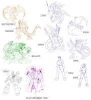 Sketch dump - preview for 2010 by AlmightyRayzilla