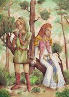 Link and Zelda by Runentafel