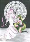 Sailor Pluto with Queen Serenity by SilverSerenity1983