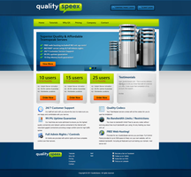 TeamSpeak - Web Hosting Design by dRoop