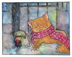 Gift For Penguinity - 'Rainy days are coming' by Paintwick