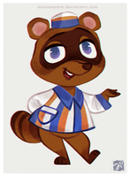 Animal Crossing Tom Nook by DianaMaRble