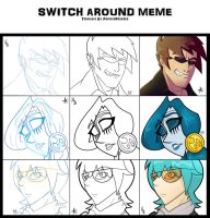 Collab- Switch around Meme by Cryej